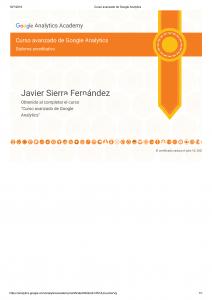 Certificación en Google Analytics