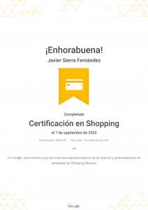 Certificación Shopping